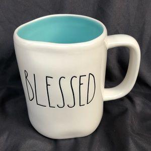 New Rae Dunn BLESSED Blue Mug LL